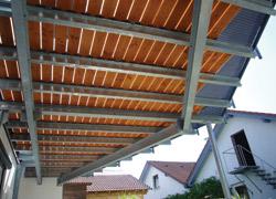 Gut gemocht TERRASSEN-DECK Bausatz fuer das Obergeschoss, Stahlterrasse mit IO66
