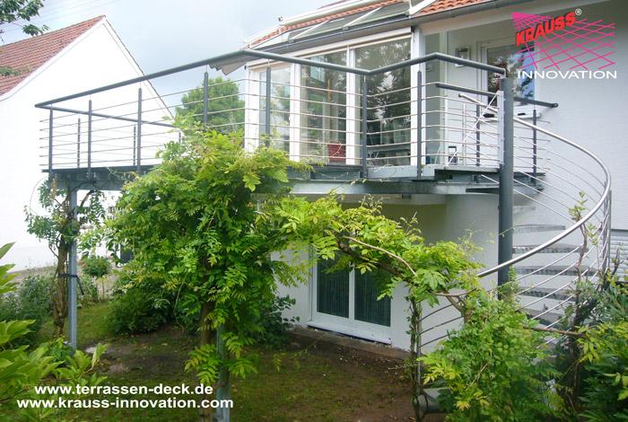 Balkon Terrassen Deck Mit Wendeltreppe Direkt Vom Hersteller Krauss