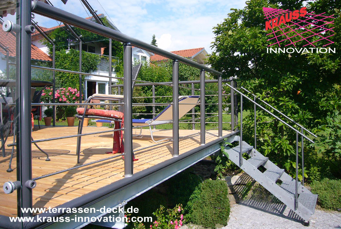 terrassen deck auf wohnebene mit zugang zum garten direkt vom hersteller krauss gmbh 88285. Black Bedroom Furniture Sets. Home Design Ideas