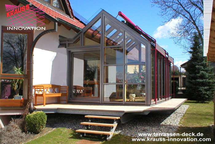 terrassendeck mit umlauf und wintergarten direkt vom hersteller krauss gmbh 88285 bodnegg. Black Bedroom Furniture Sets. Home Design Ideas